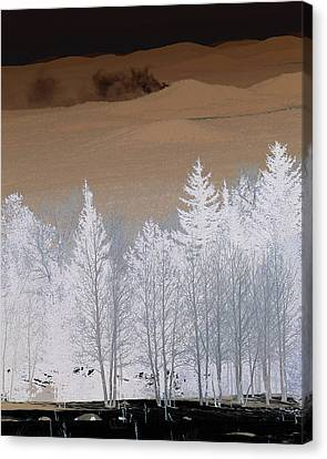 Canvas Print featuring the photograph Fire On The Peaks by Tom Kelly