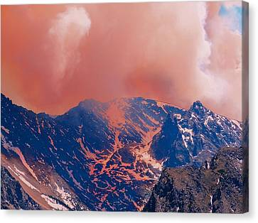 Fire On The Rocky Mountains Canvas Print by Dan Sproul