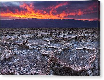 Panamint Valley Canvas Print - Fire Over Death Valley by Andrew Soundarajan