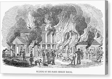 Fire Point Shirley, 1851 Canvas Print by Granger