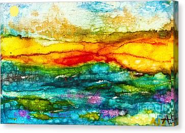Fire Sky Canvas Print by Alene Sirott-Cope