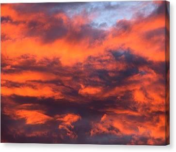 Fire Sky Canvas Print by Chris Dunn
