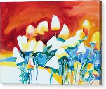 Fire Sky Canvas Print by Kathy Braud