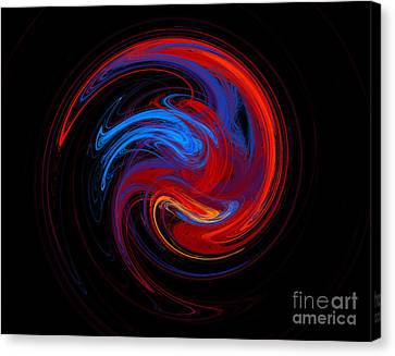 Fire Sphere Canvas Print by Andee Design