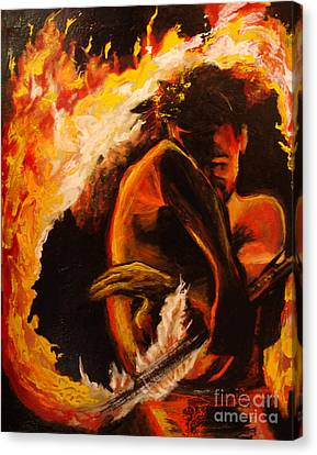 Fire Spin Canvas Print