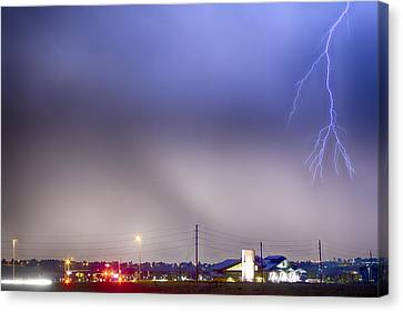 Fire Station Lightning Strike Canvas Print
