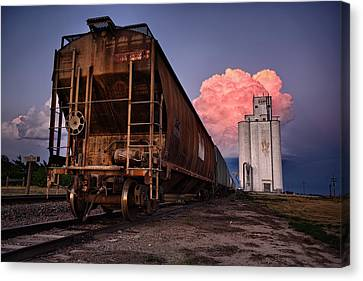 Rusted Cars Canvas Print - Fire Train by Thomas Zimmerman