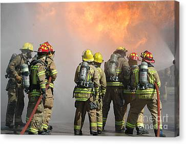Fire Training  Canvas Print by Steven Townsend