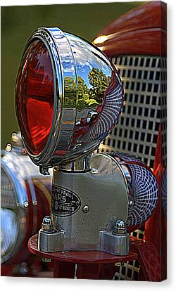 Fire Truck Reflections Canvas Print