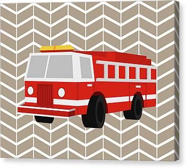 Fire Truck Canvas Print by Tamara Robinson