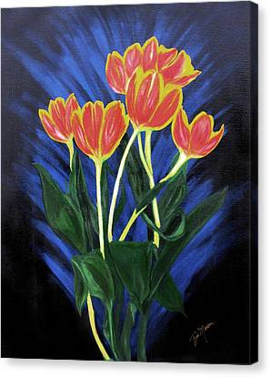 Canvas Print - Fire Tulips by Bill Manson