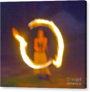Fire Twirler Alone Canvas Print