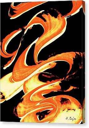 Fire Water 314 By Sharon Cummings Canvas Print by Sharon Cummings