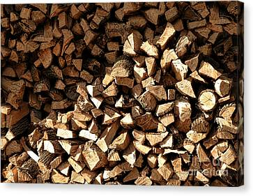 Firewood Canvas Print by Olivier Le Queinec