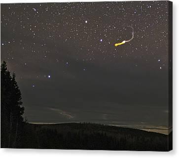 Fireball Over Maine, Usa Canvas Print by Babak Tafreshi