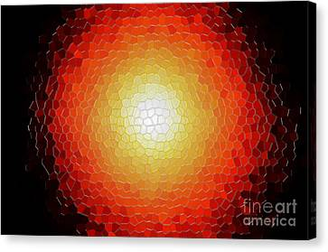 Fireball Sunburst A Tiffany Look Stain Glass Canvas Print by Andee Design