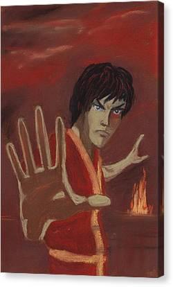 Firebending Canvas Print by Anastasiya Malakhova