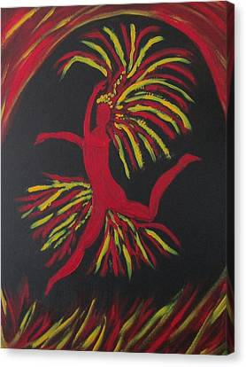 Firebird Canvas Print by Sharyn Winters
