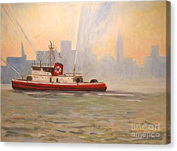 Fireboat John D. Mckean Canvas Print