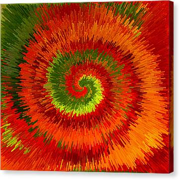 Canvas Print featuring the photograph Fireburst Extrusion by Ellen Tully