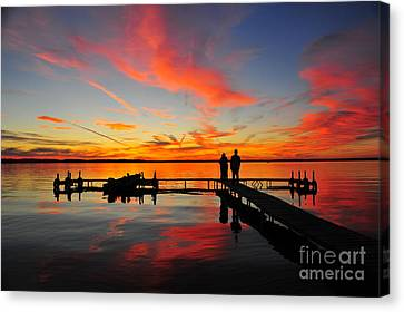 Firecracker Sunset 23 Canvas Print