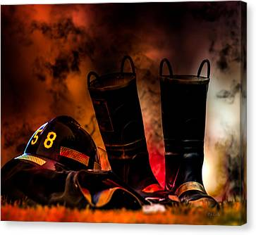 Bold Canvas Print - Firefighter by Bob Orsillo
