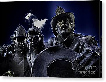 Firefighter Heroes Canvas Print