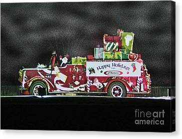 Firefighters Christmas Canvas Print by Tommy Anderson