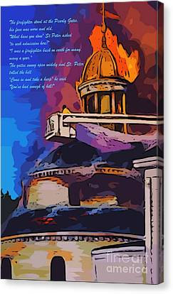 Cristian Church Canvas Print - Firefighters Poem by John Malone