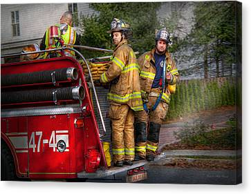 Firefighting - Only You Can Prevent Fires Canvas Print by Mike Savad