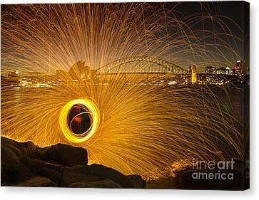 Fireflies Canvas Print by Andrew Paranavitana