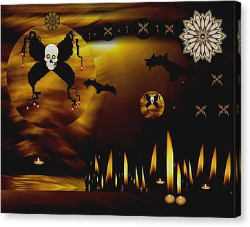 Candle Lit Canvas Print - Fireflies In The Sun by Pepita Selles