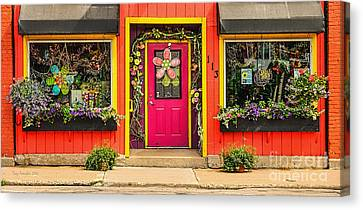 Canvas Print featuring the photograph Firefly Floral Shop by Trey Foerster