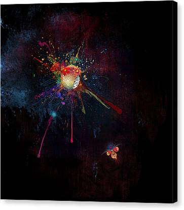 Firefly Moon Canvas Print by Bernie  Lee