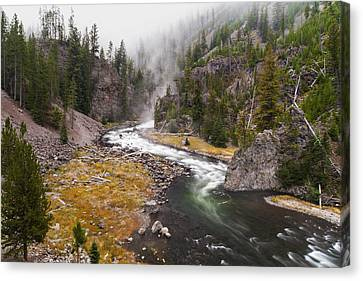 Firehole Canyon - Yellowstone Canvas Print by Brian Harig