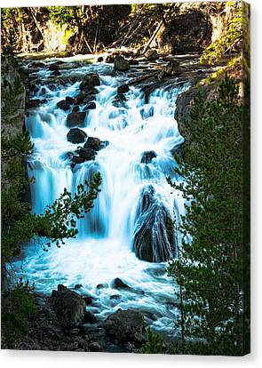 Canvas Print - Firehole Falls - Yellowstone by R J Ruppenthal