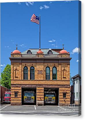 Firehouse Middletown Connecticut Canvas Print by Edward Fielding