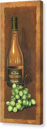 Firelands Chardonnay Canvas Print by Terri  Meyer