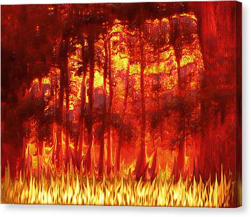 Fireline Canvas Print by Wendy J St Christopher