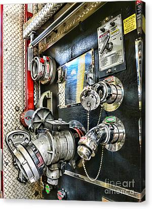 Fireman - Control Panel Canvas Print by Paul Ward