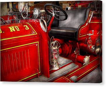 Fireman - Fire Engine No 3 Canvas Print by Mike Savad