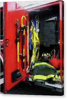 Firefighters Canvas Print - Fireman - Fire Fighting Equipment by Susan Savad