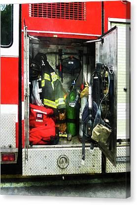 Fireman - Fire Fighting Gear Canvas Print by Susan Savad