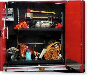 Truck Canvas Print - Fireman - Fire Fighting Supplies by Susan Savad