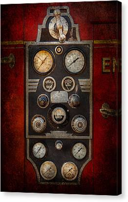 Fireman - Keep An Eye On The Pressure  Canvas Print by Mike Savad