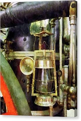 Firefighters Canvas Print - Fireman - Lantern On Fire Truck by Susan Savad