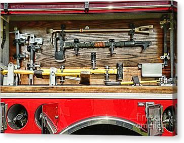 Fireman - Life Saving Tools Canvas Print by Paul Ward