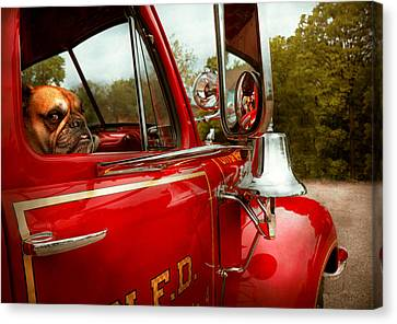 Fireman - Mack  Canvas Print by Mike Savad