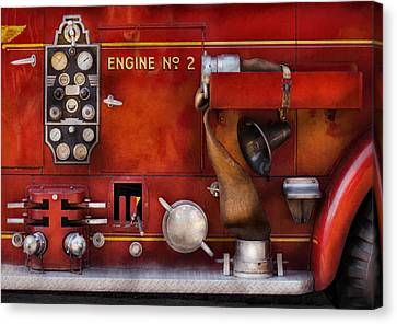 Fireman - Old Fashioned Controls Canvas Print by Mike Savad