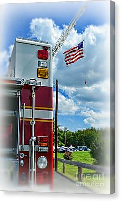 Fireman - Proudly They Serve Canvas Print by Paul Ward